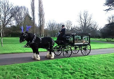 Horsedrawn carriage 400 - Alan Greenwood and Sons Funeral Directors