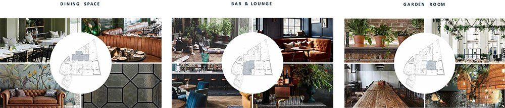 the waverley inn interior collage 1000 - The Waverley Inn Weybridge