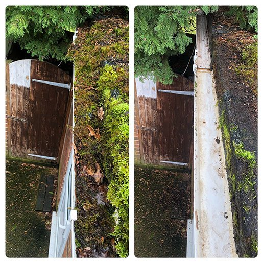 surrey gutter clean before after 3 72px - SuperClean - Surrey Gutter Cleaning